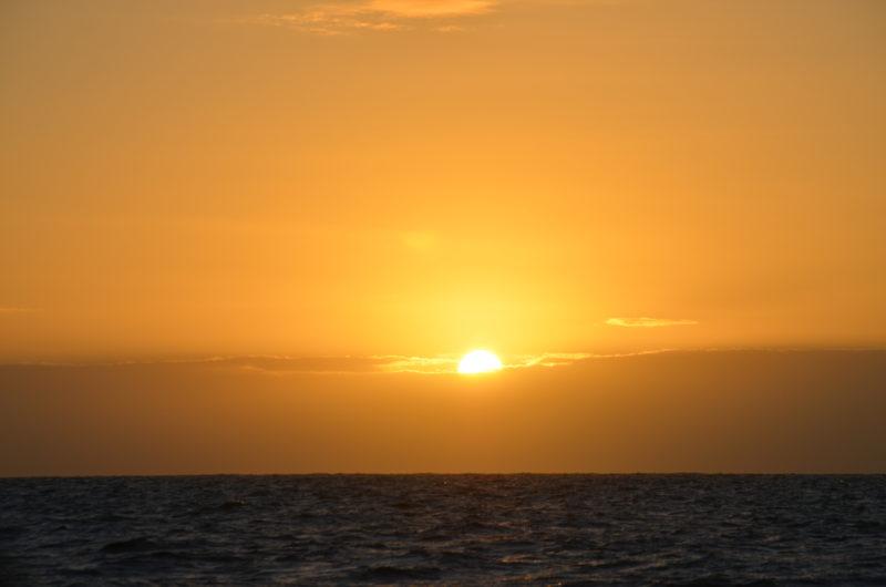 Fin soloppgang i Biscaya