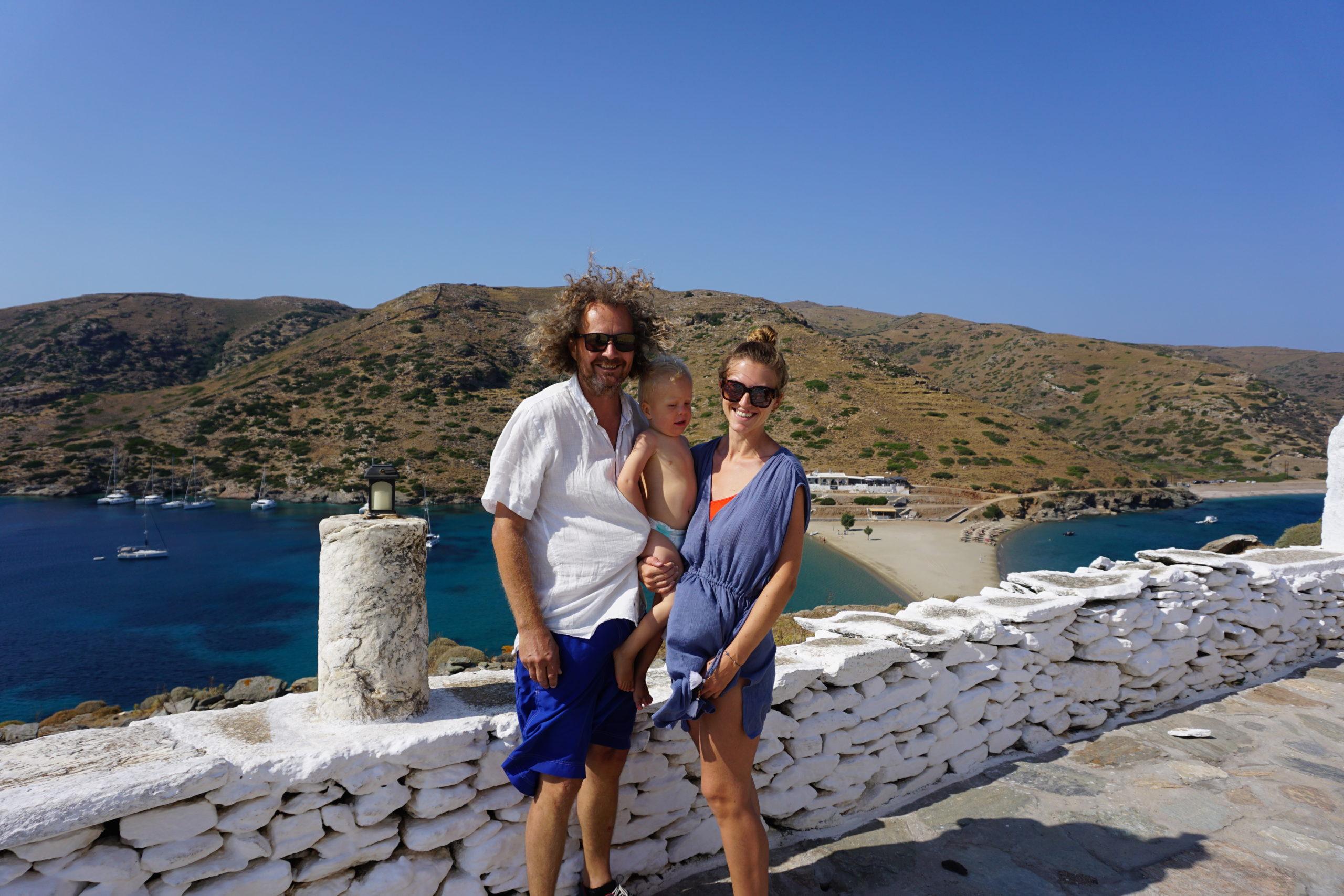 Kolona beach på Kythnos
